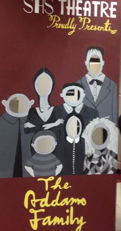 Addams Family Photo Cut out Sonoraville High School