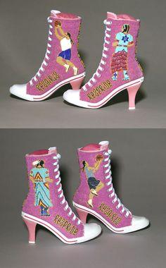 Rez Girls / Rez Pride beaded shoes, Teri Greeves (Kiowa, Comanche)