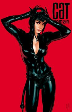 now have a favorite comic book artist :) Adam Hughes! and his Cat Woman  seems to bridge the gap between my new love for comics and the iconic Audrey Hepburn...