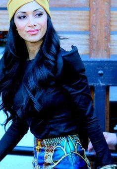 Ideas de tonos de cabello negro azulado