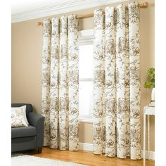 Asda Printed Bird Script Eyelet Curtains - Fully Lined | Curtains | ASDA direct These are interesting