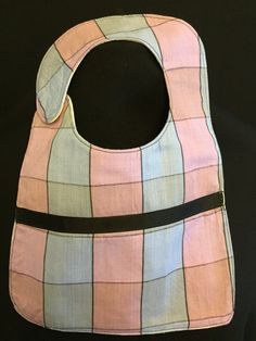 Baby Girl Bib- Pink and Blue by InspiradaPorJULIA on Etsy