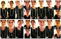 """Our new """"Layered On"""" necklace combinations! From our 2013 Holiday collection. - 20 different ways to wear it!"""