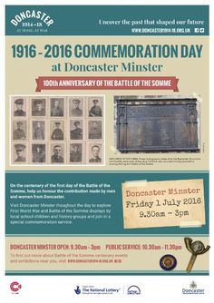 1916-2016 - 100th Anniversary of the Battle of the Somme, 1st July. Doncaster Libraries (@DoncasterLib) | Twitter