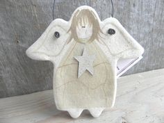 White Angel Salt Dough Kitchen Gift or by cookiedoughcreations, $5.95