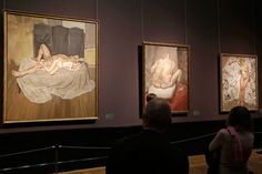 "Paintings by British painter Lucian Freud during an exhibition at the ""Kunsthistorisches Museum"" (Museum of the History of Art) in Vienna."