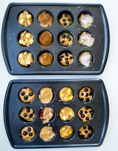 5 ingredient blender muffins--(double recipe and make calories each without toppings) 15 flavor variations! NO flour. NO oil. NO sugar. This recipe will change your life. Healthy Muffin Recipes, No Carb Recipes, Healthy Muffins, Healthy Sweets, Baby Food Recipes, Healthy Snacks, Breakfast Recipes, Vegan Recipes, Cooking Recipes