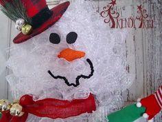 Snowman Wreath Tutorial
