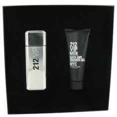 212 Vip by Carolina Herrera Gift Set -- 3.4 oz Eau De Toilette Spray + 3.4 oz Shower Gel