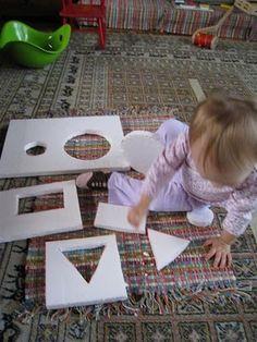 d.i.y shape puzzle from styrofoam