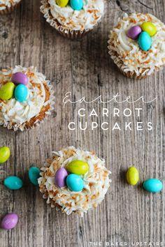 Easter carrot cupcak