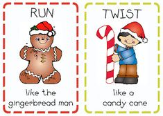 Free Christmas Action Cards  from Oopsey Daisy