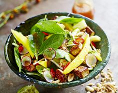 Rojak salad with tofu