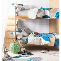 Hiccups Sundae Blue Single Quilt Cover Set