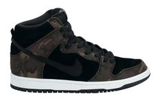 """release date: 09e1f 7f8d3 New images have surfaced of the Nike SB Dunk High """"Camouflage"""" today, just  ahead of its release this month at Nike SB retailers."""