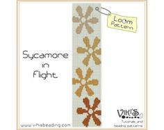 Loom Pattern: Sycamore in Flight - cuff bracelet - INSTANT DOWNLOAD pdf - Multibuy savings with coupon codes - bl47