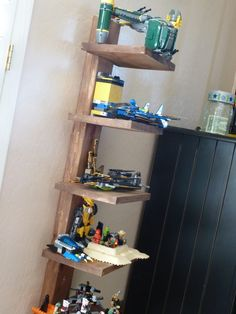 for my boys' lego creations - great idea for this style shelf