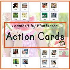 Action Cards - Montessori Printables For Toddlers and ESL students - Montessori Nature Blog