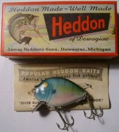 Vintage Heddon Fishing Lures | Collectible Heddon Bait & Tackle