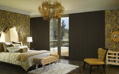 A new interpretation of traditional draperies that offer ultimate functionality for a modern bedroom style––Luminette® Modern Draperies ♦ Hunter Douglas window treatments Contemporary Window Treatments, Contemporary Windows, Contemporary Curtains, Modern Curtains, Patio Curtains, Bedroom Drapes, Bedroom Decor, Design Bedroom, Bedroom Ideas