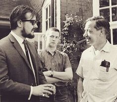 Giorgio Gomelsky, Eric Clapton, and Eric's dad.