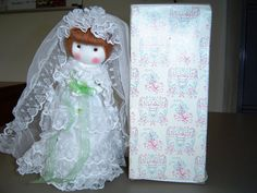 Vintage Russ Berrie and Company, Inc. Bride Doll with Brown hair-Isn't she a sweetie?--ShellyIsVintage