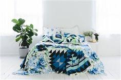 Mrs Darcy - Floor Cushion - Mediterranean Nights- Coastal