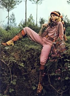 Outfit by Reldan & boots by Granny Takes a Trip. Photo by Barry Lategan for Vogue September 1970.
