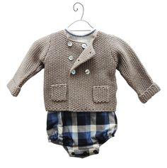 Conjunto bebé Chaqueta de Miski Wawa Pelele de violeta e federico (outlet invierno) Camisa de mon marcel www.nicolete.es