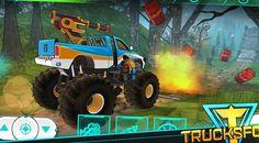 monster truck para niños, camiones monstruos carreras, tranformes, juego...