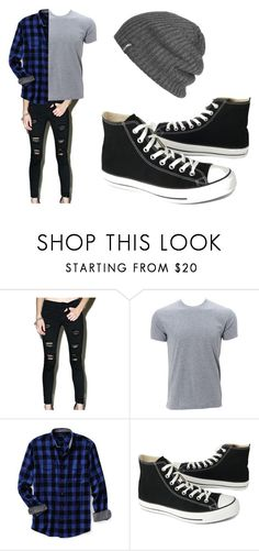 """""""Men's Punk Rock"""" by fiftyshadesofhippies ❤ liked on Polyvore featuring Klique B, Lands' End, Converse, Outdoor Research, men's fashion and menswear"""