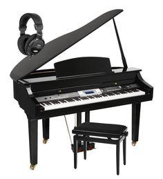 88 HAMMER ACTION KEYS DIGITAL GRAND PIANO KEYBOARD USB SD HEADPHONES BENCH SET