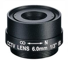 Replacement Black CCTV Box Camera 25mm Focal Length Board Lens F1.2 CP