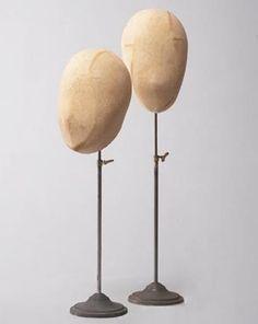 Vintage Hat Head - display for hats, hair wreaths...