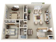 2 Bedroom 1 Bath Apartment $729 - $809 Rent * $250 Dep. * 2 Beds, 1 Bath 882 Sq. Feet **