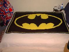 batman on Pinterest Afghans, Crochet Patterns and Silhouette