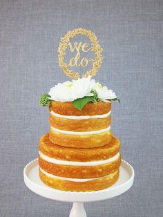 We Do Woodland Cake Topper by AlexisMattoxDesign on Etsy