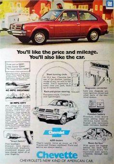 "Vintage Automobile Advertising: 1976 Chevrolet Chevette, ""Chevrolet's New Kind of American Car"", Time Magazine, September 26, 1976."
