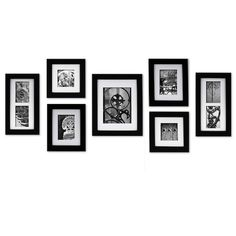 Simply create a professional wall display with This 'Create A Gallery' wall frame set. Each frame features usable artwork- style right out of the box. Use the frames separately, lay out your own Classic Picture Frames, Collage Picture Frames, Picture Frame Sets, Picture Groupings, Picture Arrangements On Wall, Frame Arrangements, Wall Frame Set, Mdf Frame, Frames On Wall