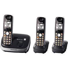 Panasonic KX-TG6513B DECT 6.0 Plus Expandable Cordless Phone w/3 Handsets