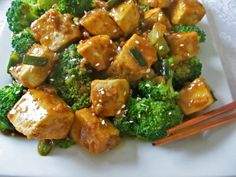 General Tso's Tofu Recipe:  omit the oil for saute - use water for low-fat dish (Low GI)