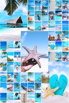 50 pcs Tropical beach tezza collage kit by GrayBlackWhite. Digital PDF JPG Summer collage kit. The One direction Summer collage kit is a great solution to diversify an interior and show your creativity. This One piece collage kit will perfectly decorate a living room, dorm room, bedroom or fan room. Wall Collage Decor, Framed Wall Art, Aesthetic Room Decor, Pink Aesthetic, College Dorm Decorations, First Photo, Aesthetic Pictures, Dorm Room, Creativity