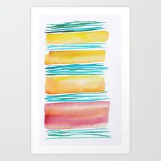 Lines & Color Block Series October 2018 Watercolor Dreamcatcher, Butterfly Watercolor, Watercolor Pattern, Watercolor Print, Pastel Watercolor, Watercolor Art Paintings, Watercolor Artists, Watercolors, Painting Art