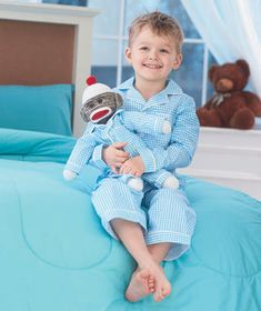 Matching Pajama & Sock Monkey Sets | The Lakeside Collection