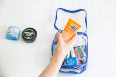 What to Pack in Your Toiletry Bag: Travel Toiletry Essentials – EzPacking, Inc Toiletries List, Packing Toiletries, Best Packing Cubes, Packing Tips For Travel, Travel Necessities, What To Pack, Bag Organization, Airplane