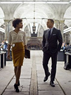 Naomie Harris and Daniel Craig (Skyfall - 2012)