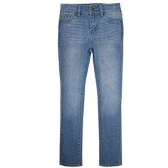 Levi's Signature Girls' 5 Pocket Skinny Jeans, Size: 7, Blue