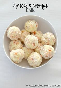 Three Ingredient Apricot and Coconut Balls - an easy snack for the kids and grown ups too. Both regular and Thermomix instructions included. Sweet Recipes, Snack Recipes, Cooking Recipes, Xmas Recipes, Apricot Recipes, Cooking Cake, Dip Recipes, Dessert Recipes, Xmas Food