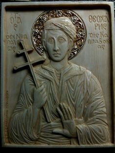 St Theocharis of Nevsehir  /  hand made relief by Vangelis Tsoubris