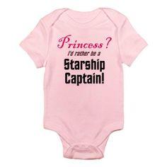 Starship Captain Star trek Infant Bodysuit